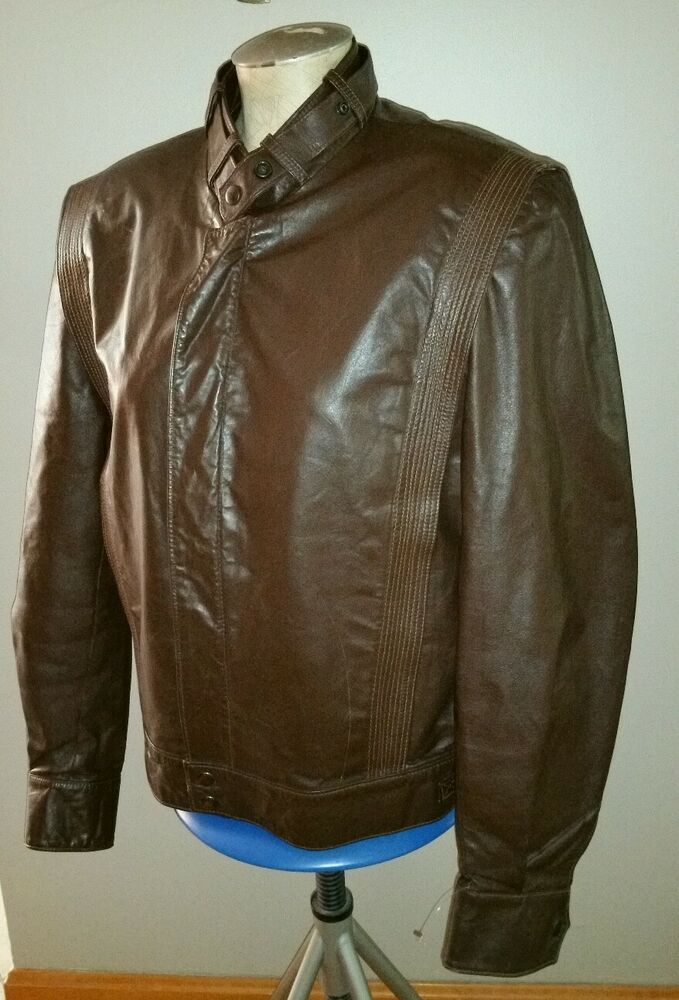 VINTAGE THE LEATHER SHOP SEARS COWHIDE CAFE RACER ...
