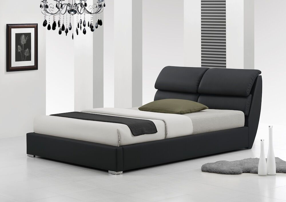 Libretto 4ft6 double 5ft king size modern leather bed memory foam mattress ebay - Modern bed ...
