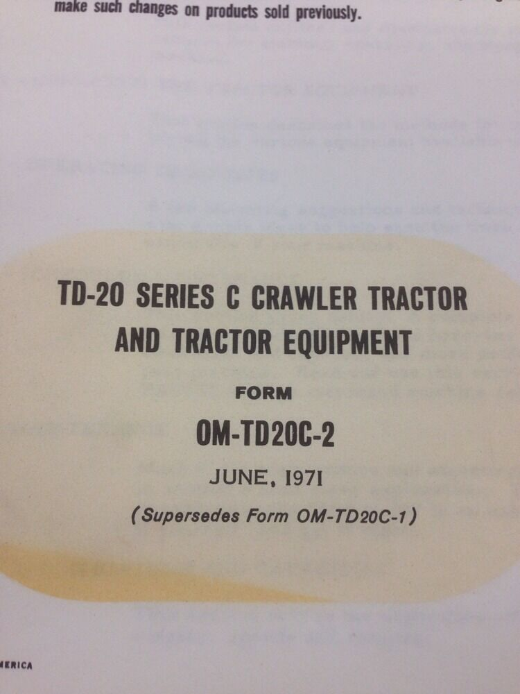 Dresser Td7e operators manual