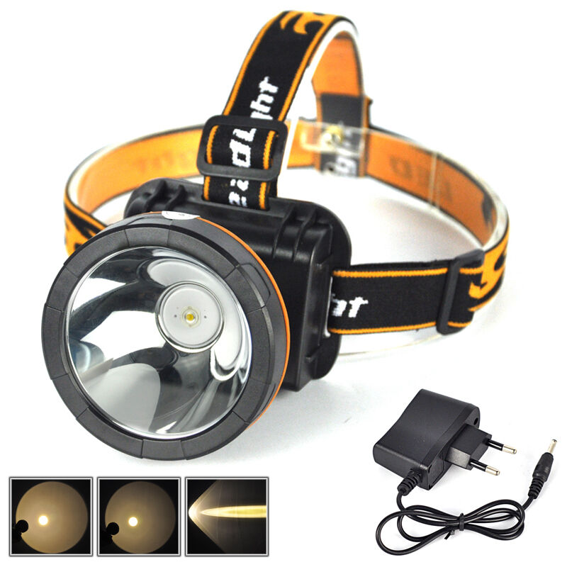 2000Lumen LED Rechargeable Headlight Camping Headlamp Work ...