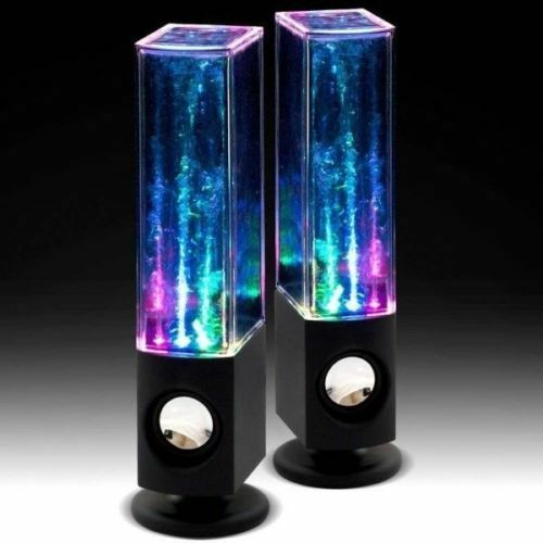 LED Dancing Water Music Fountain Light Speakers for Phones ...