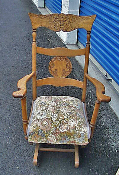 Cutest Best Antique Oak Lady S North Wind Platform Rocker