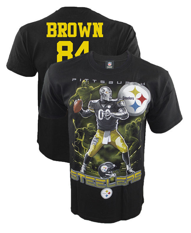 Pittsburgh Steelers Antonio Brown T Shirt Wide Receiver