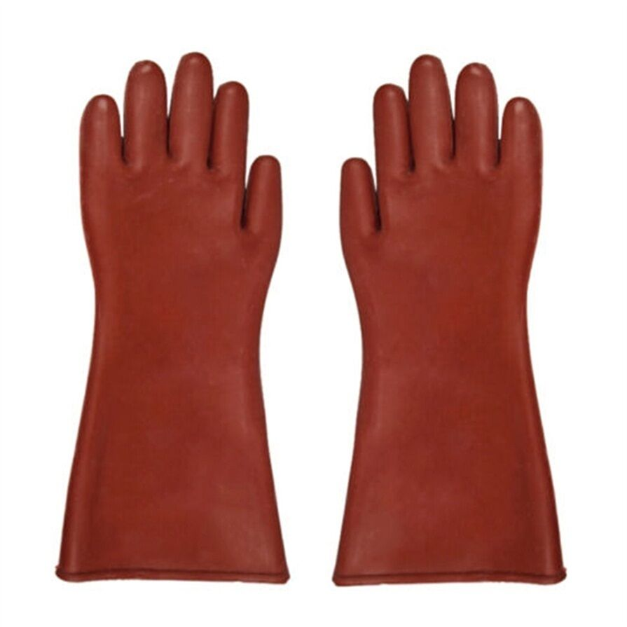 High Voltage Rubber Gloves : Insulated kv high voltage electrical insulating gloves