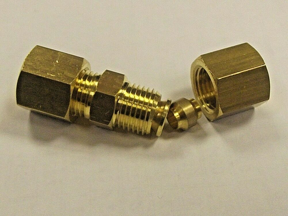Unequal brass compression connectors fuel air water