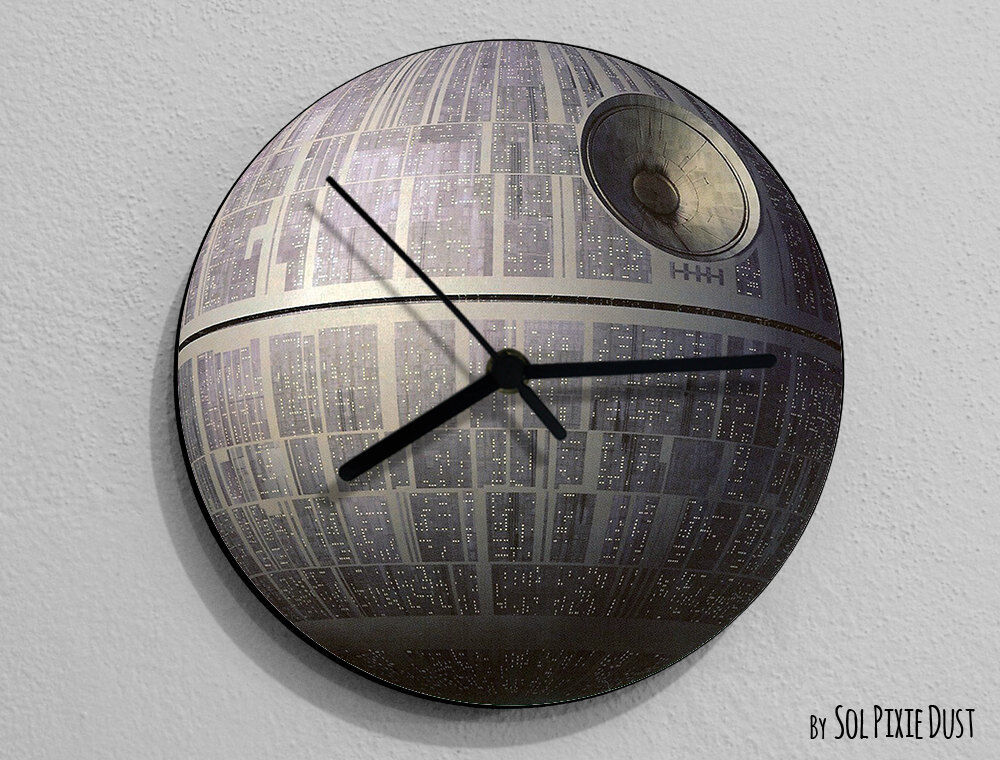 Death Star Star Wars Wall Clock Ebay