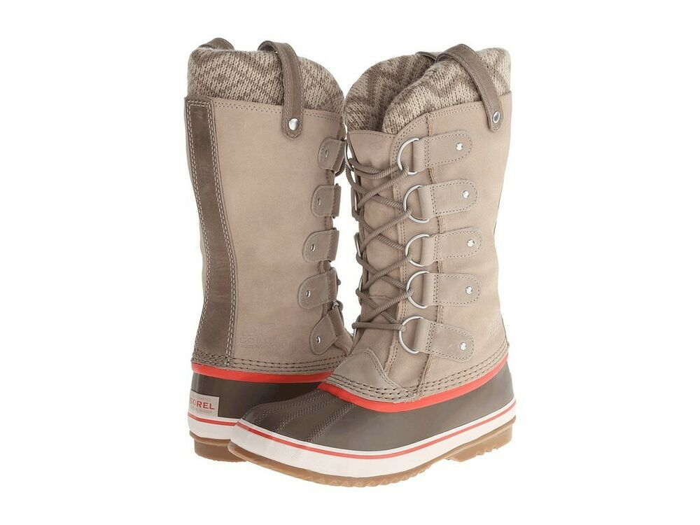 Sorel Joan Of Arctic Ii Fossil Taupe Beige Knit Suede