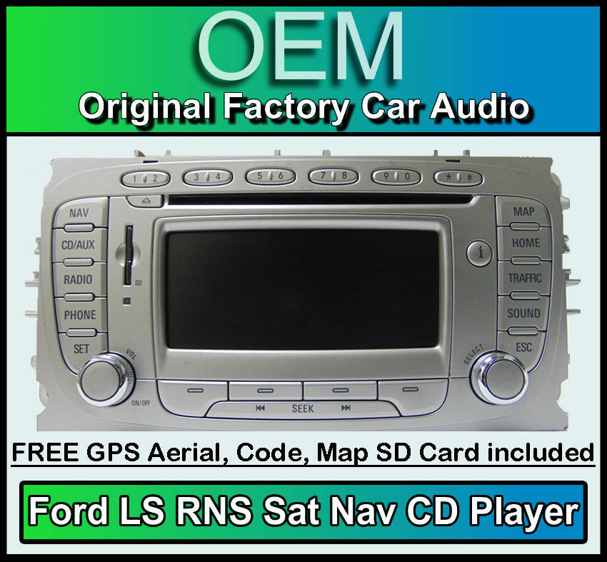 ford focus sat nav car stereo ford ls rns cd player radio. Black Bedroom Furniture Sets. Home Design Ideas