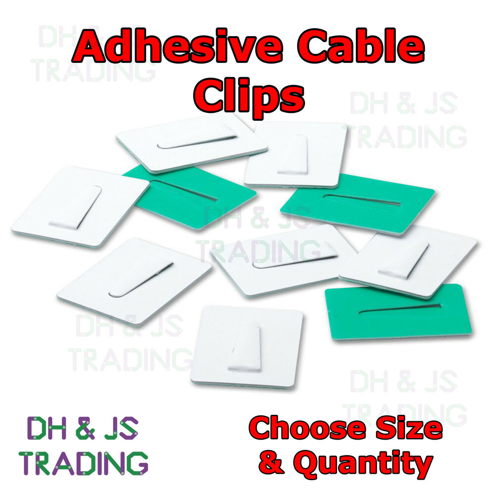 Steel Self Adhesive Cable Clips Adhesive Backing Plate For Wire ...