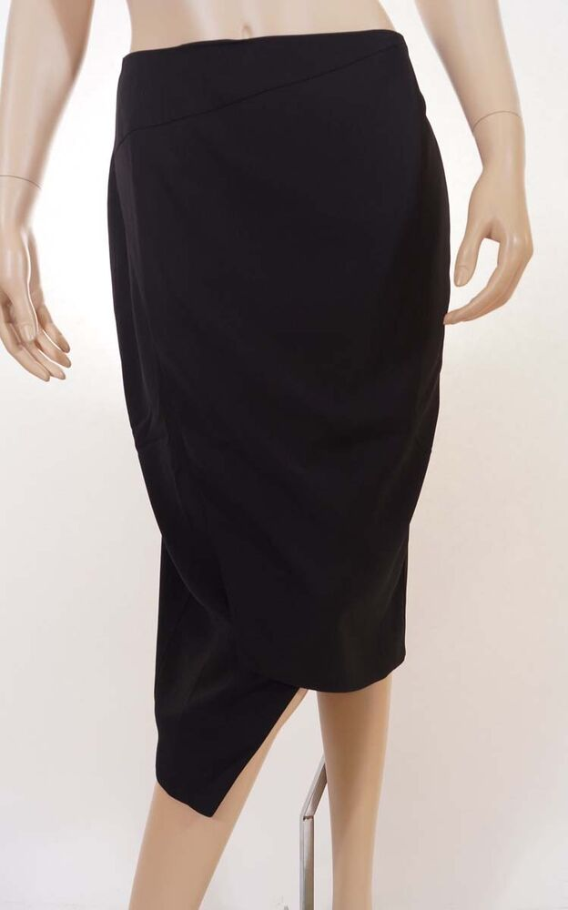cooper st womens black lined stretch below knee length