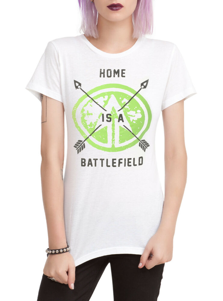 Dc comics green arrow battlefield girls t shirt ebay Music shirt design ideas
