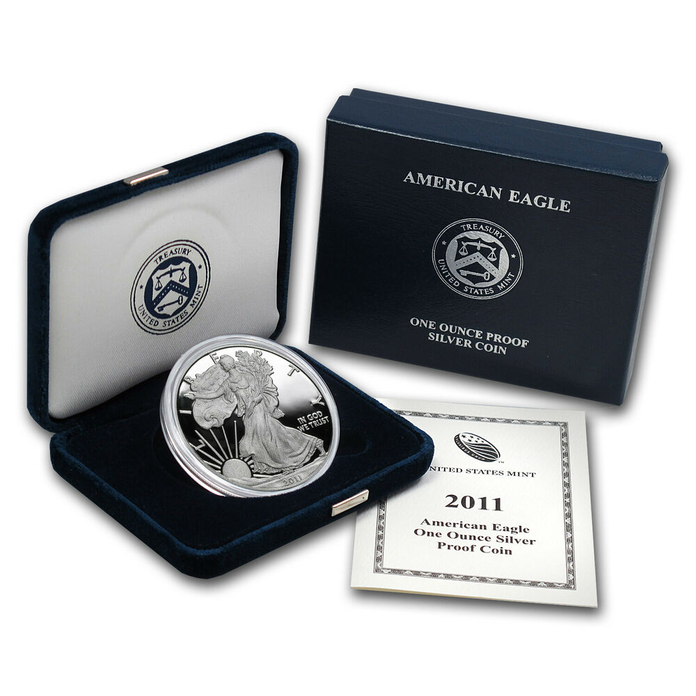 2011 W 1 Oz Proof Silver American Eagle W Box Amp Coa
