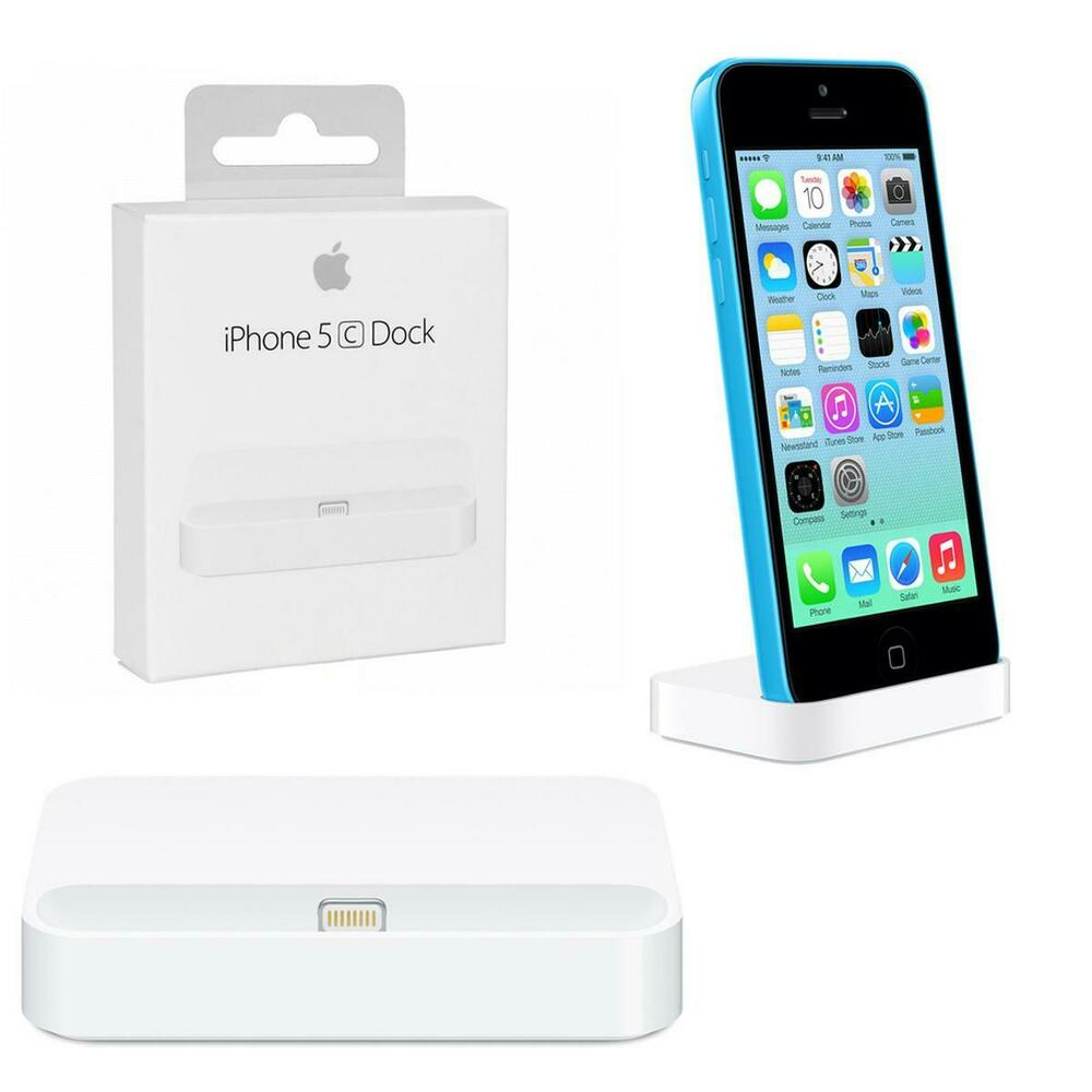 new genuine apple iphone 5c charging lightning charge sync dock station white ebay. Black Bedroom Furniture Sets. Home Design Ideas