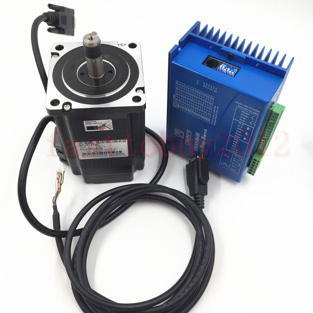 Hybrid nema34 closed loop stepper motor drive kit system 8 for Stepper motor control system