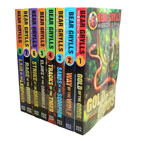 img-Bear Grylls Mission Survival Collection 8 Books (Vol1-8) Set Childrens Gift Pack