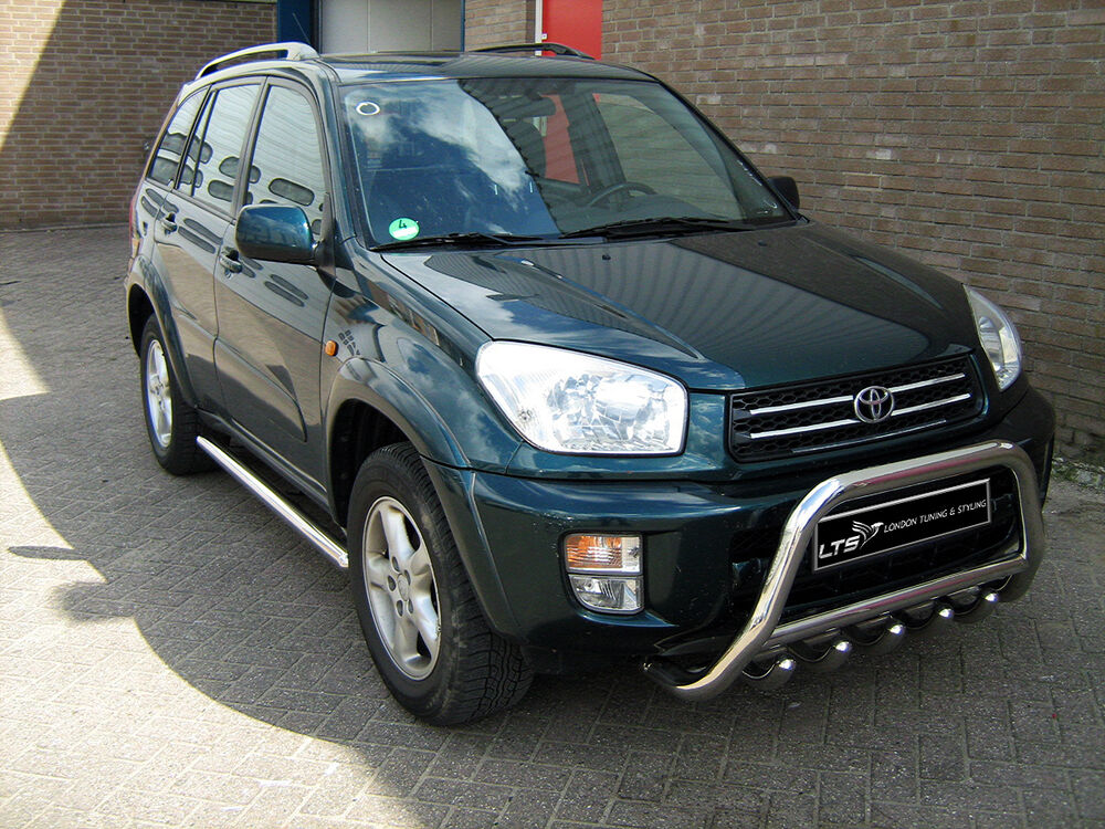 toyota rav4 2000 2005 chrome axle nudge a bar bull bar ebay. Black Bedroom Furniture Sets. Home Design Ideas