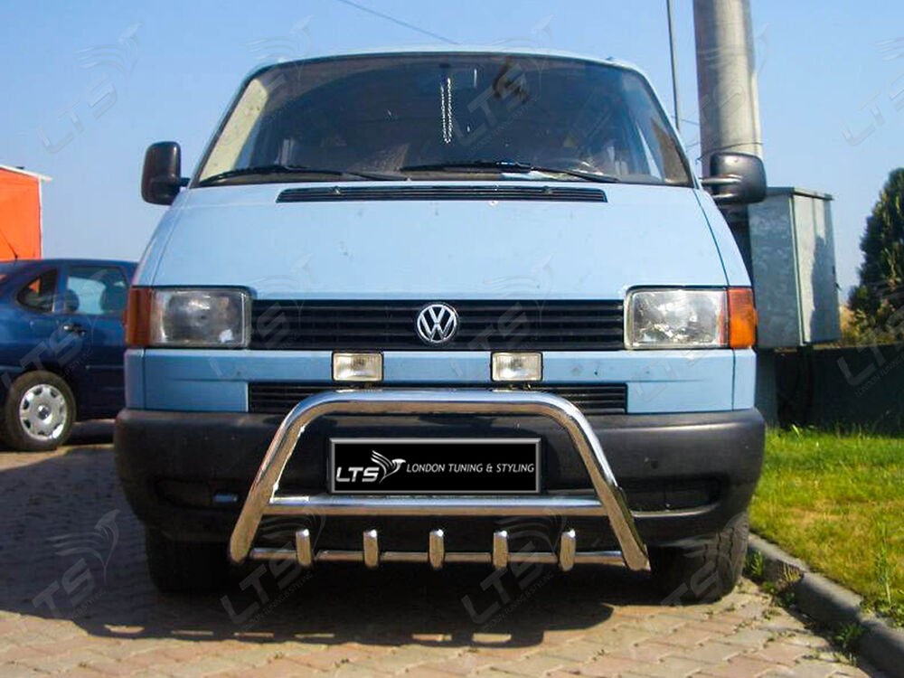 vw t4 transporter chrome axle nudge a bar bull bar 3555100345676 ebay. Black Bedroom Furniture Sets. Home Design Ideas