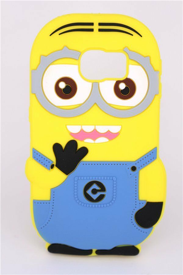 for samsung galaxy s6 edge j5 cartoon cute minions soft silicon case yellow new ebay. Black Bedroom Furniture Sets. Home Design Ideas