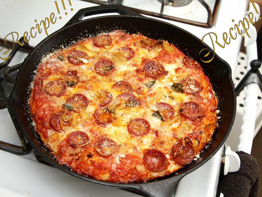 """foolproof Pan Pizza """"Recipe"""" ☆ New York Style Pizza Sauce ..."""