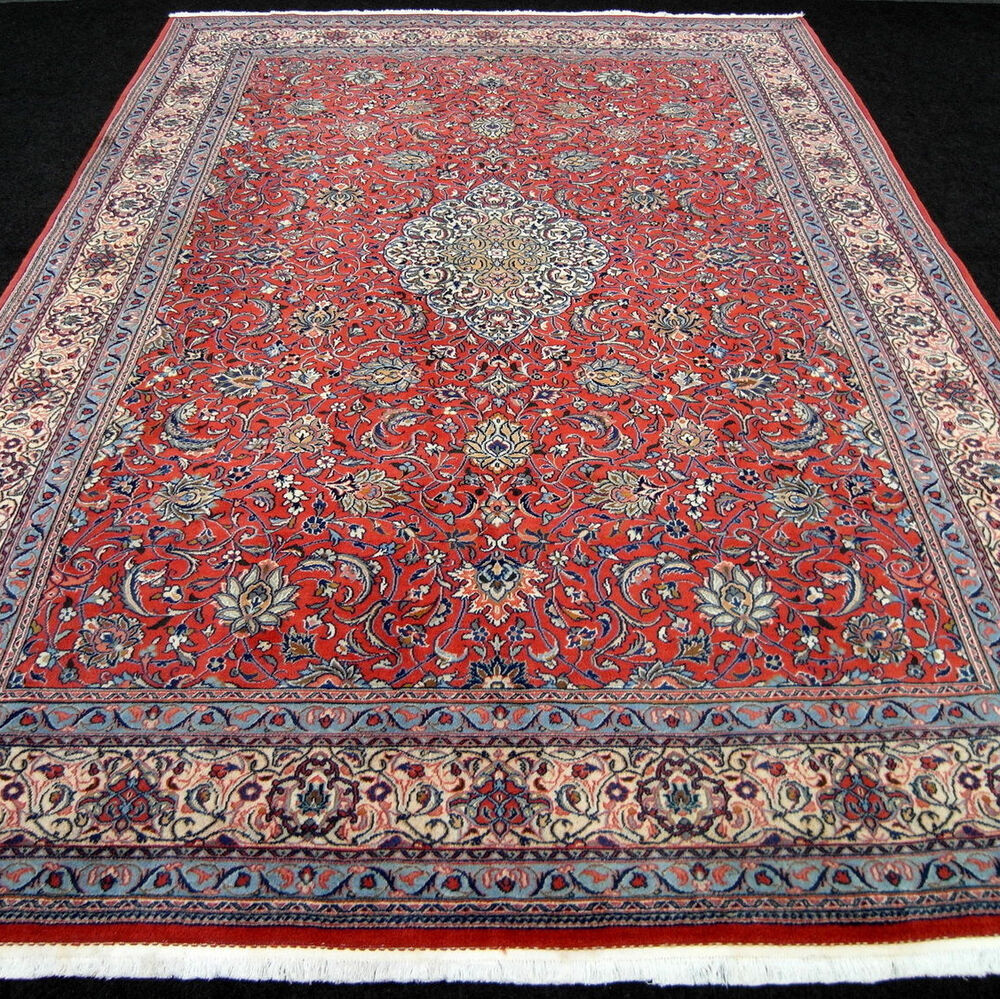 orient teppich rot beige 354 x 248 cm perserteppich medaillon floral carpet rug ebay. Black Bedroom Furniture Sets. Home Design Ideas