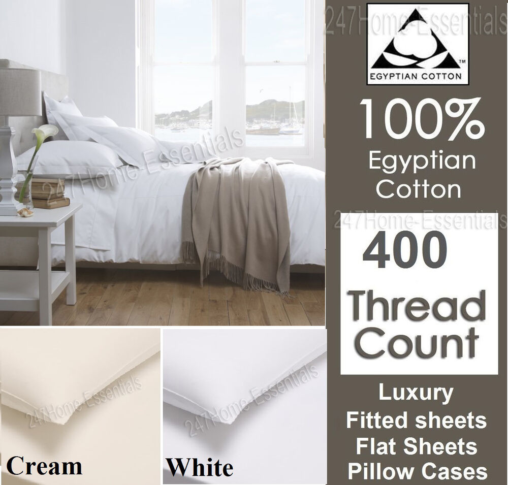 100 Egyptian Cotton 400 Tc Fitted Sheet Or Flat Sheet Or