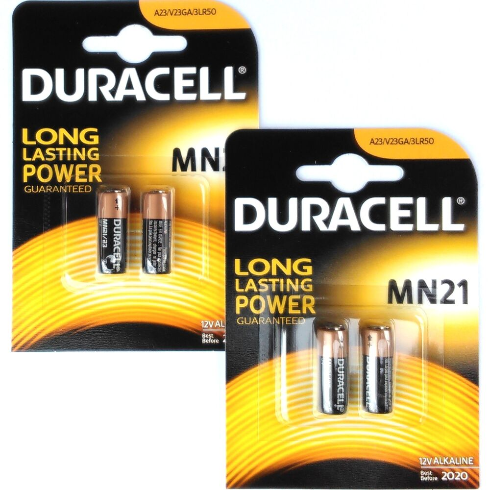 4 pcs duracell duralock mn21 battery 12v a23 mn 21 lr23a mn21b2 gp23 2 x 2pack ebay. Black Bedroom Furniture Sets. Home Design Ideas