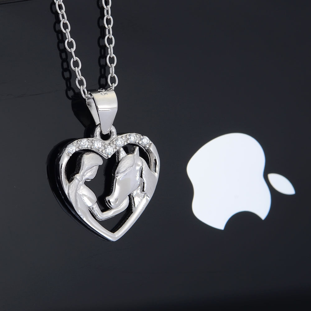 necklace products large cute with in jewelry horse unicorn silver animal wings pendant dotoly