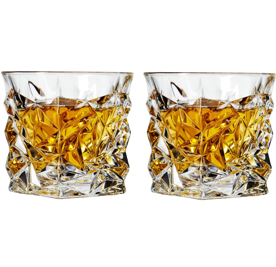 Set of 2 whiskey glasses tumblers unique drinking gift Unusual drinking glasses uk