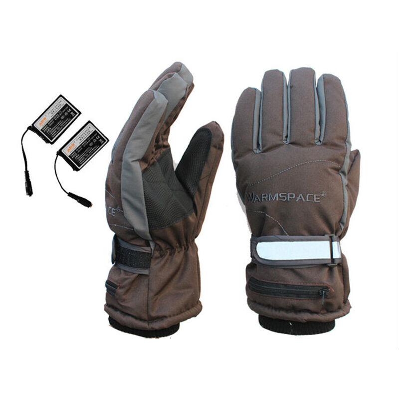 Battery Heat For Outside : Battery heated winter gloves rechargeable electric warm