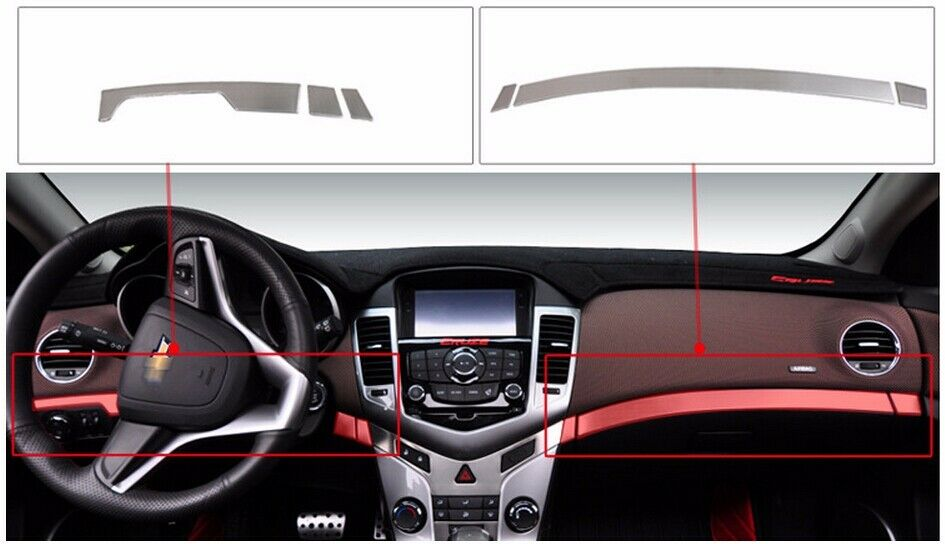 Stainless Steel Main Drive Copilot Cover Trim For Chevrolet Cruze 09 2014 2015 Ebay