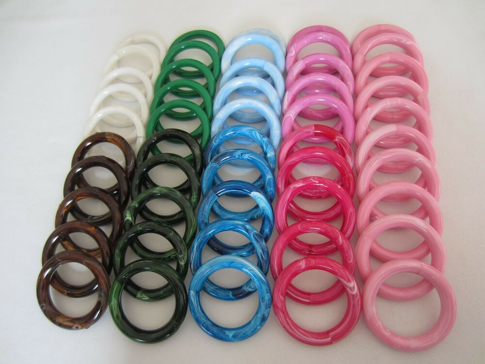 Lot of 50 assorted 3 round plastic macrame marbella rings for 3 inch rings for crafts