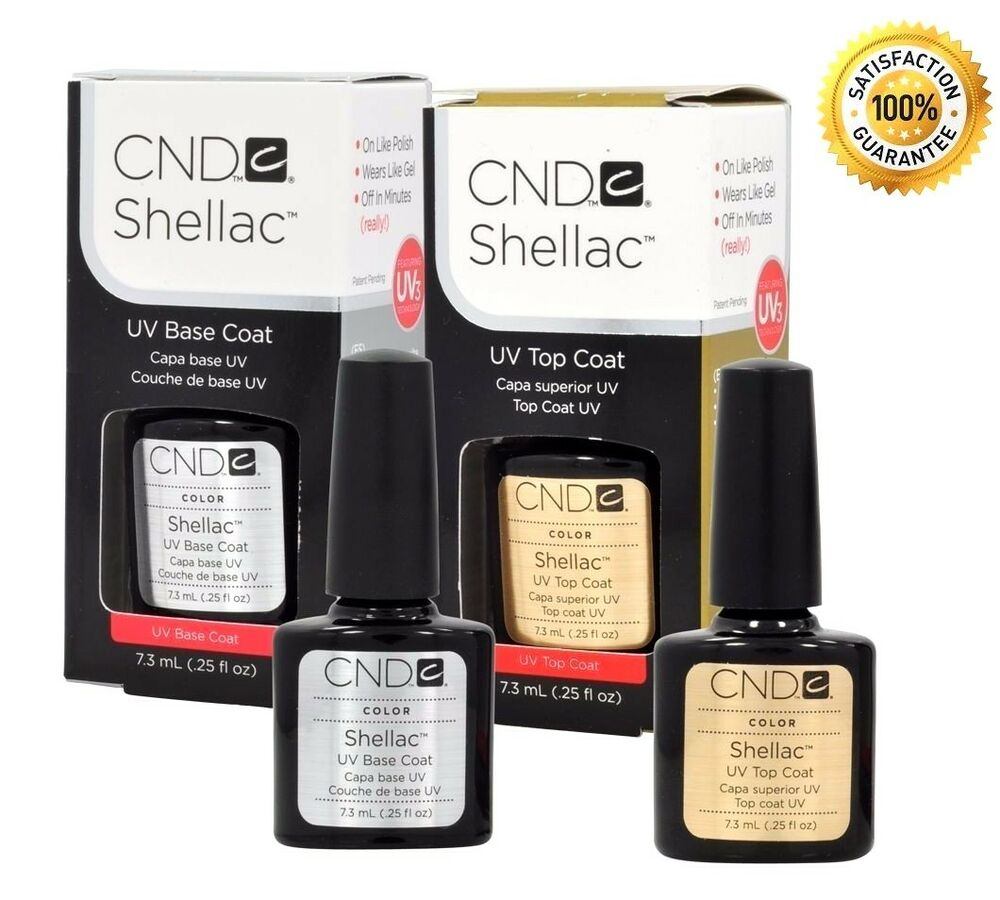 cnd shellac top coat base coat and duo 25oz choose brand new usa best deal ebay. Black Bedroom Furniture Sets. Home Design Ideas