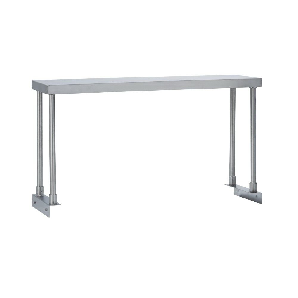 Commercial kitchen stainless steel single overshelf for work tables 12x48 ebay - Industrial kitchen table stainless steel ...