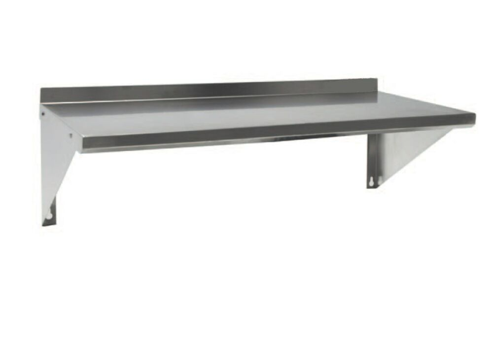 stainless steel commercial wall mounted shelf 12x84 ebay. Black Bedroom Furniture Sets. Home Design Ideas