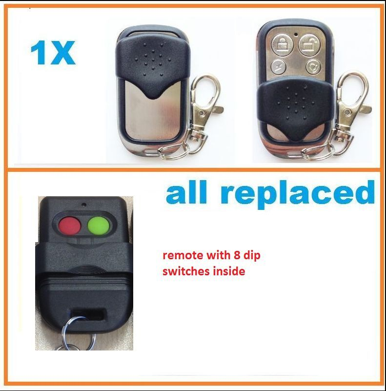 Gate Remote Control For 2 Button Red Green Exen Automatic