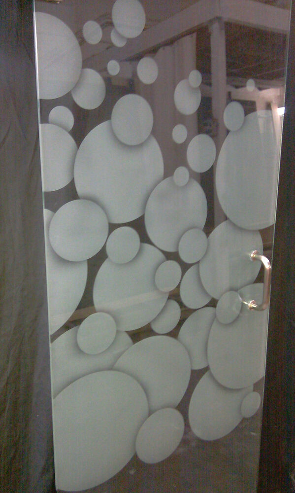 Frameless Shower Door Sand Etched With Bubbles Dsg 24 Quot 28