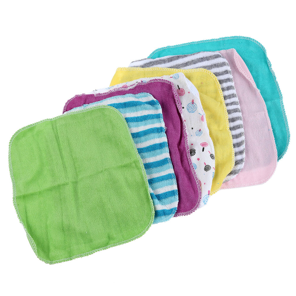 Wash Cloths As Burp Cloths: Baby Face Washers Hand Towels Cotton Wipe Wash Cloth 8pcs
