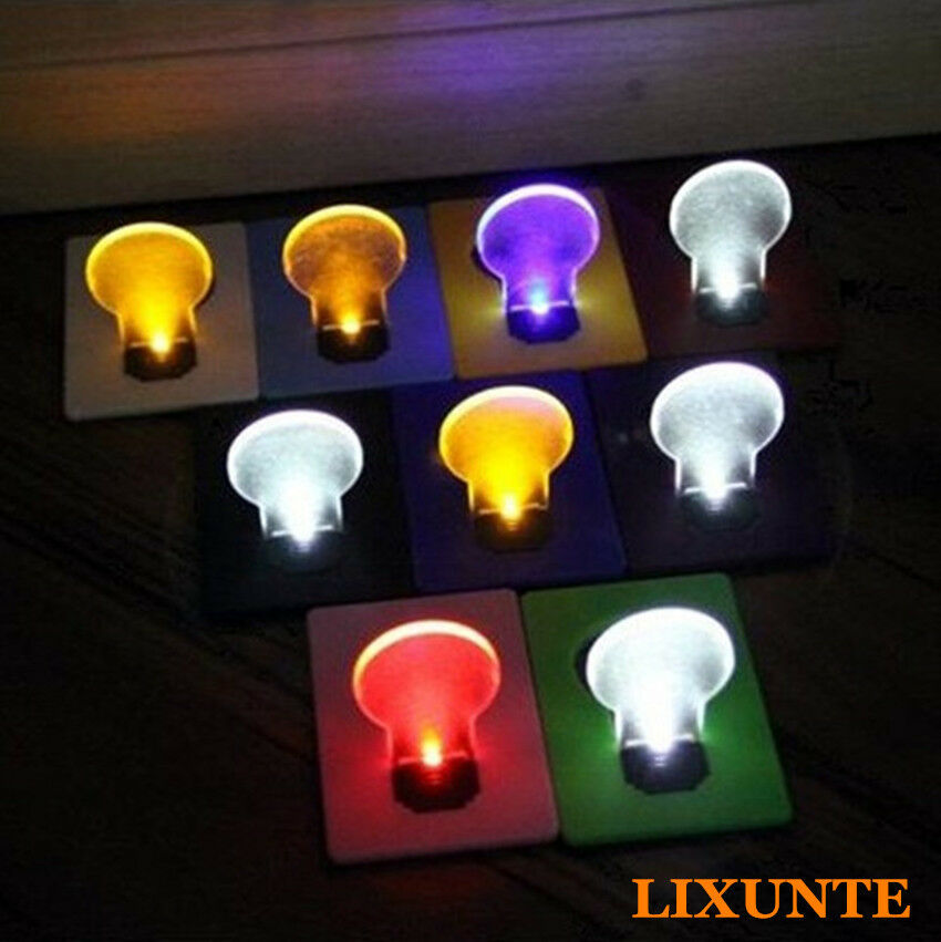 new slice portable pocket wallet credit card size led night light lamp bulbs lxt ebay. Black Bedroom Furniture Sets. Home Design Ideas