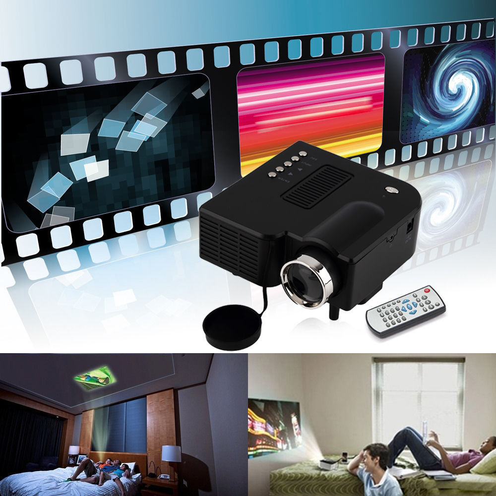 Uc28 hd mini projector portable simplified micro projector for Micro mini projector