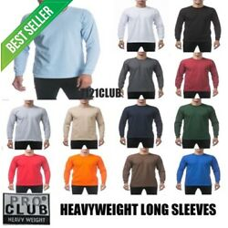 Kyпить PRO CLUB LONG SLEEVE HEAVYWEIGHT T SHIRTS PROCLUB MEN PLAIN T SHIRT BIG AND TALL на еВаy.соm