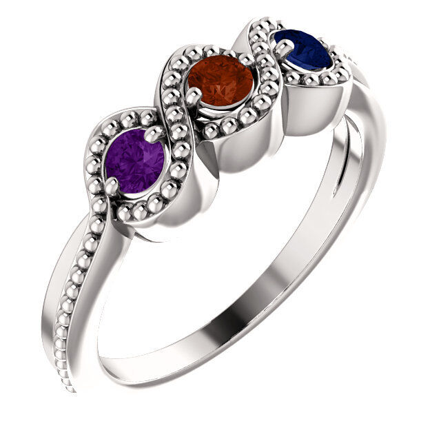 Mother S Day Ring Jewelry Sterling Silver Birthstone Ring