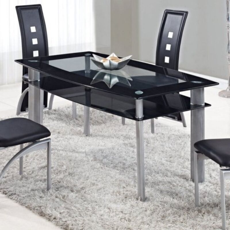 Global Furniture Dining Table Black D1058NDTM Table 17 X 17 X 43