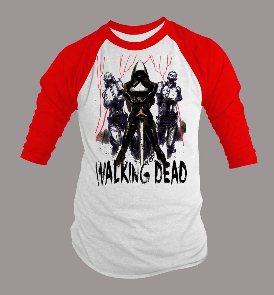 Mens graphic tshirt the walking dead big and tall custom for Men s tall long sleeve shirts