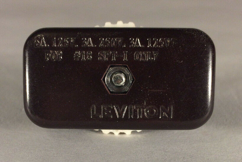 New Leviton Brown Spt 1 Rotary On Off Lamp Cord Switch