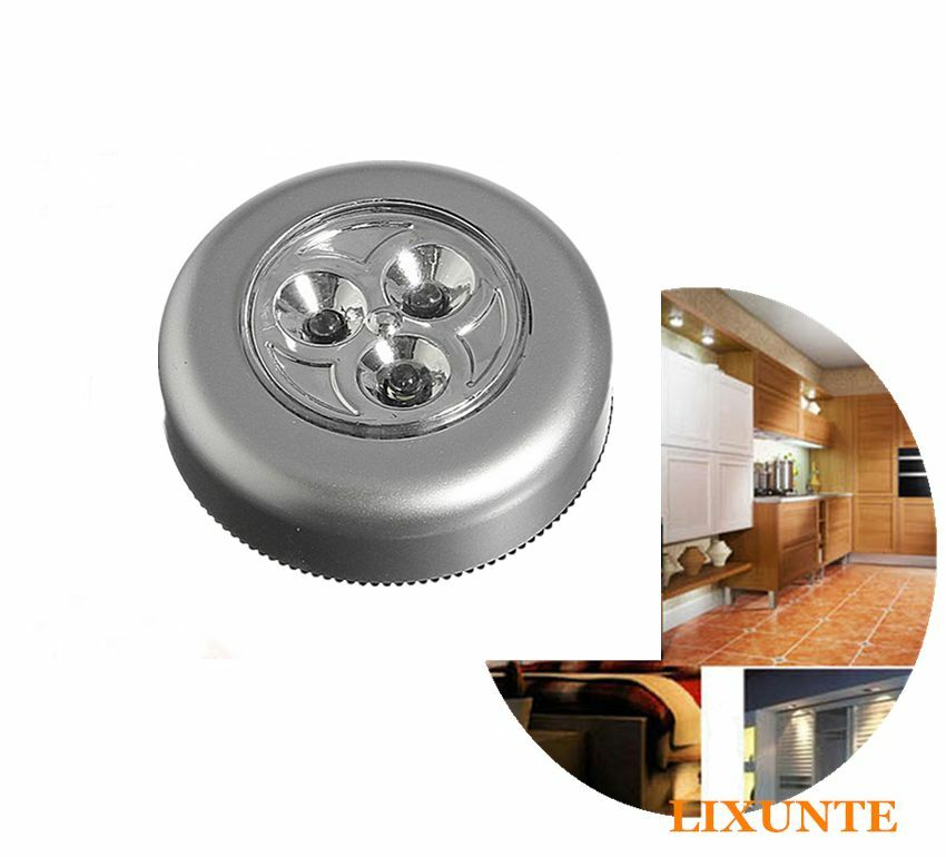 New Home Round Led Battery Powered Stick Tap Touch Light
