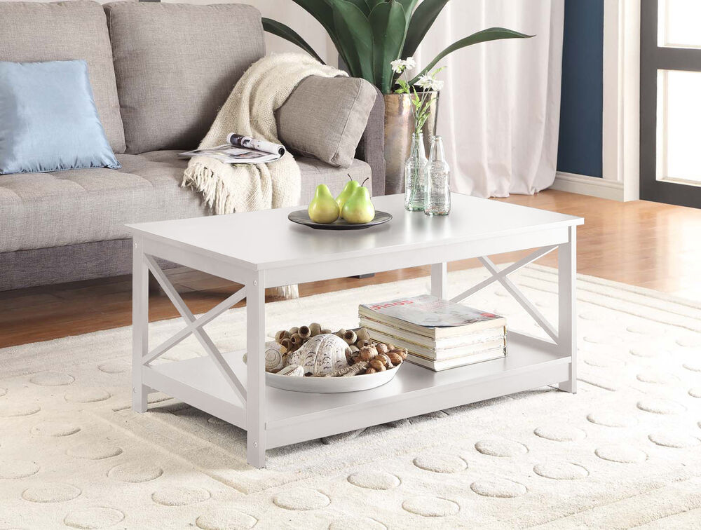 Convenience Concepts Oxford Coffee Table White 203082w