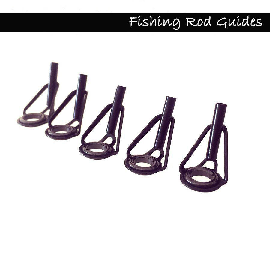10 pcs fishing rod guide tip repair kit rod part fishing for Fishing rod guides replacement