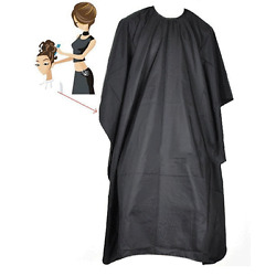 Kyпить Hair Cutting Cape Pro Salon Hairdressing Hairdresser Gown Barber SOLID BLACK на еВаy.соm