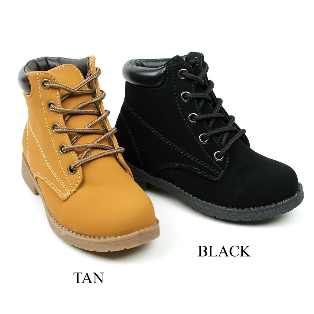 New Cute Girls Youth Kids Shoes Lace Up Combat Ankle