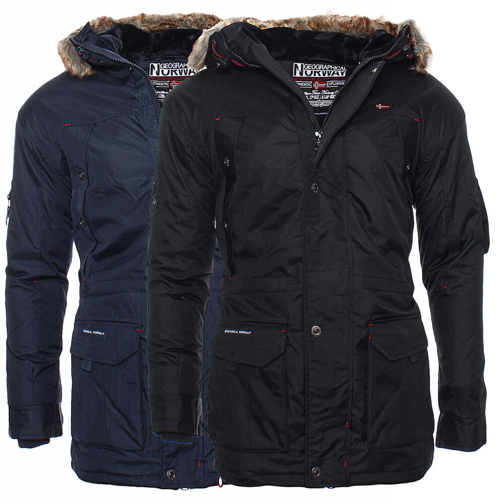geographical norway gef tterte winterjacke herren parka winter jacke s xxxl neu ebay. Black Bedroom Furniture Sets. Home Design Ideas
